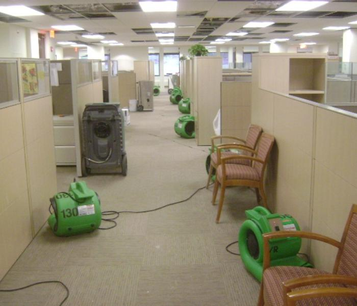Flooded Basement In Commercial Property: SERVPRO Of Danbury / Ridgefield Before And After Photos
