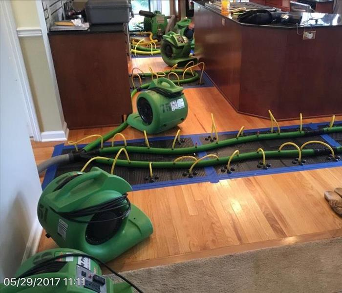 Hardwood Floor Drying in Bethel, CT After