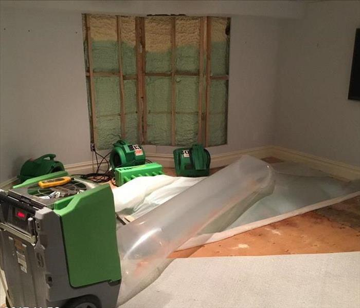 Drying a Water Damaged Basement in Ridgefield, CT
